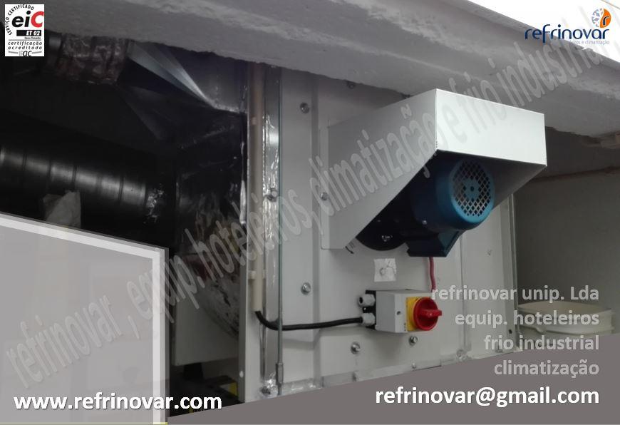 Motor de extracção de ar de pás recuadas com comando de corte de Corrente 400v