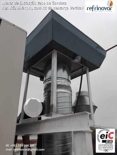 Motor de extracção de cobertura EC2 com kit vertical de descarga vertical