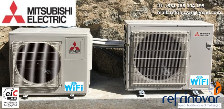 Ar Condicionado Inverter - Unidades Exterior Multi-Split para 2 & 3 Circuitos com sistema Wi-Fi - Mitsubishi Electric