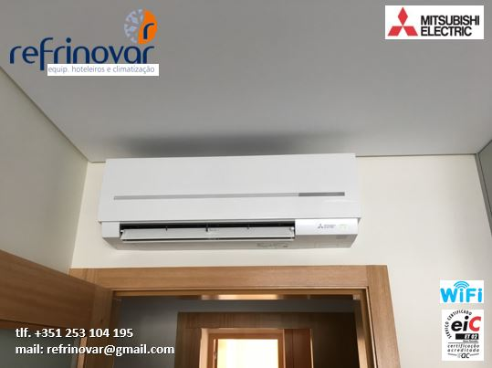 Ar Condicionado Unidade Interior - Split Mural Inverter com sistema Wi-Fi - Mitsubishi Electric