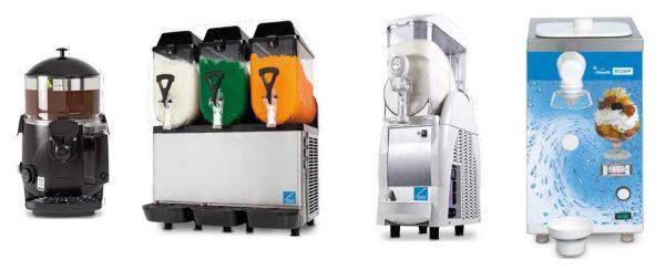 Chocolateira aquecida, Máquina de Granizados de 1,2 ou 3 Cubas, Máquina para cremes frios, Máquina de Chantilly