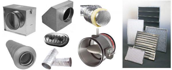 Acessórios para Ventilação, Caixa de Filtragem, Tubo flexivel Isoflex, Atenuador de Som, Porta de Visita, Registo Corta fogo, Filtros Industriais