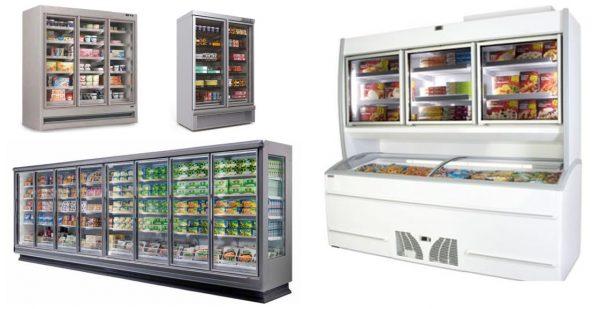 Expositores Verticais Congelados - Módulos Compactos ou Modulares, Armário Congelação, Combinado ilha congeladora com Expositor alto Congelados .