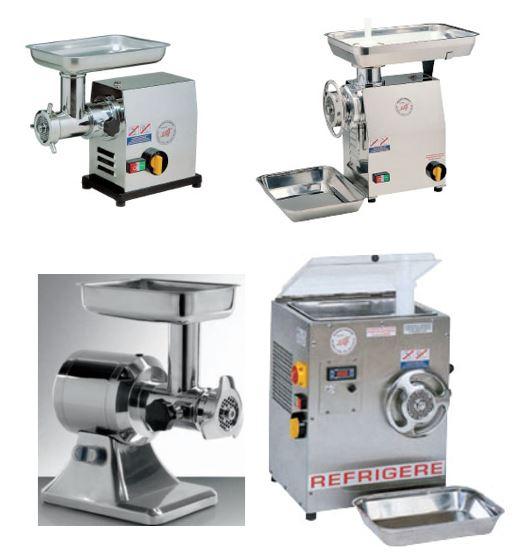 Trituradoras ou picadoras de Carnes, modelos de 230v a 400v, de 12, 22, a 32 de disco, sistema de trituradora refrigerada