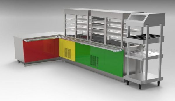 Self Serviçe Jimo Standart - Módulos Simples de Banho Maria, Neutros, Refrigerados , com esteira de deslizamento quadrado, etc