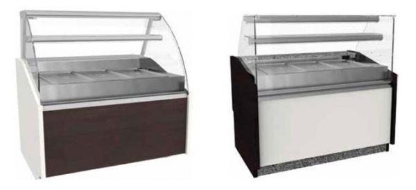 Vitrines segmento cafetaria e pastelaria Refrigerada para exposição de saladas .