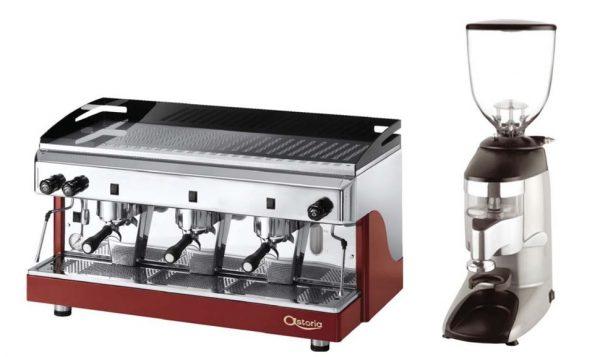 Máquina de Café Expesso traditional com 1,2 ou 3 Grupos, Moinho de Café standard , Normais ou silenciosos