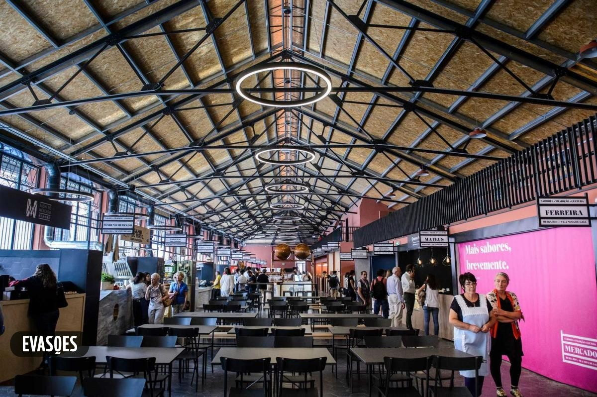 Mercado beira rio de Gaia, local no qual fizemos uma instalação de um quiosque de francesinhas á moda do porto