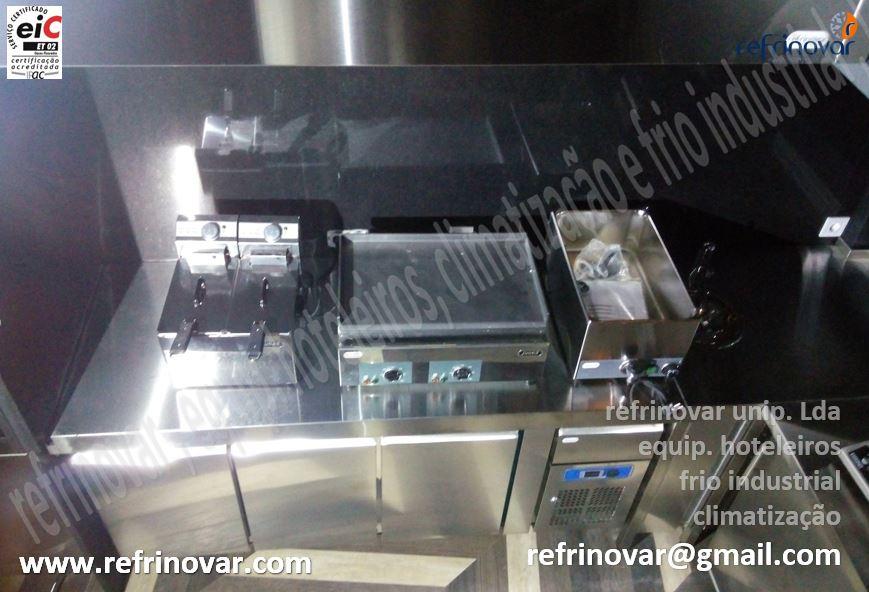 Fritadeira eléctrica dupla junex, fry-top eléctrico de bancada, banho-maria GN1-1 com torneira