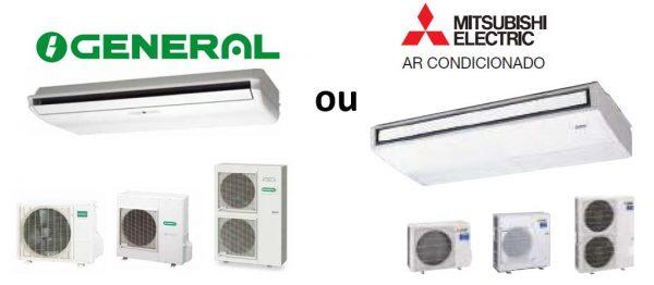 Ar Condicionado da gama comercial modelo tecto de 1 Via Inverter, de aplicação exposta