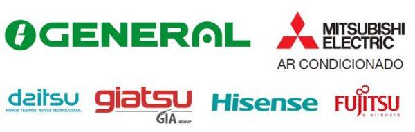 Algumas das Marcas de Ar Condicionado com as quais temos parcerias Comerciais