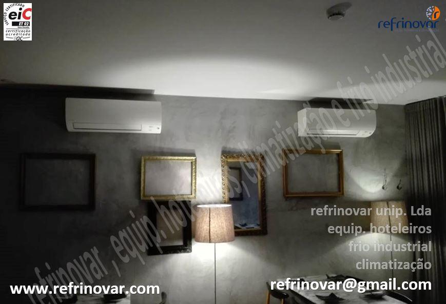 Climatização em sala de refeições com dois aparelhos de ar condicionado da marca Daikin