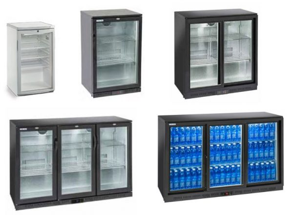 Armários baixos refrigerados ou contrabalcões para bebidas, de Portas de Abrir ou de Correr