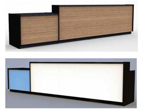 Balcões Modulares para Bares, Cafés, Restaurantes, etc . - Exemplo de modelo baixo Conjugado com modelo Alto