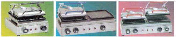 Infras Simples, Mistas ou Duplas, de tamanho (Mini, Maxi ou Super Maxi )-(pequena,média ou grande) Termo tecnico Grelhadores de Contacto ou Presnas grelhadoras .