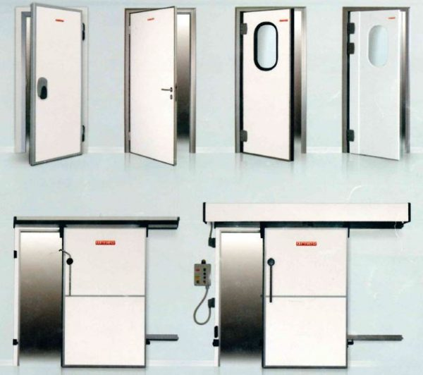 Portas Isotérmicas para camaras frigoríficas, Pivotantes, de serviço, Vai-Vem, Deslizante simples ou Automáticas