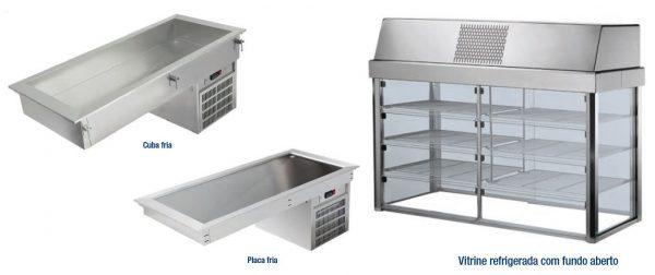 Drop-in sistemas de Arefecimento - Placa fria de encastrar funda ou placa de encastrar baixa com diversas medidas Gastronorme, Vitrine Superior refrigerada de Pousar