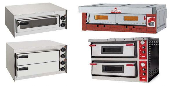 Forno de Pizzas Pequeno compacto de 1 Camara ou 2 Camaras com ou sem visor,Forno Modular de Grande Capacidade para Vários Niveis, Forno eléctrico duplo de duas Câmaras Standart