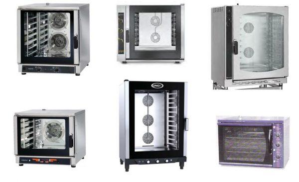 Fornos de Convecção de Cozinha, com humidificação, vários niveis, opções de tabuleiros Gastronorm GN1-1 ou GN2-1, como tambêm para grelhas 600x400 mm