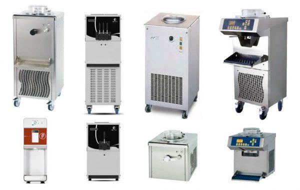 Máquina de Gelados, Produtora Manual, Máquina de gelados de Bomba de 2 ou 1 Sabores, Máquina de sorvete traditional, Produtora com extracção automática, Máquina Sorvete instantâneo