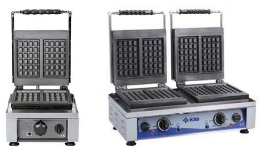 Prensa grelhadora de Waffles Simples ou Dupla, tambêm chamada de Máquina de gofras