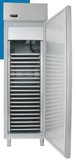 Armário frigorífico de Conservação de Massas Verdes Temperaturas Positivas ou Negativa de 1 ou 2 Portas, preparado para tabuleiros 75x45 cm