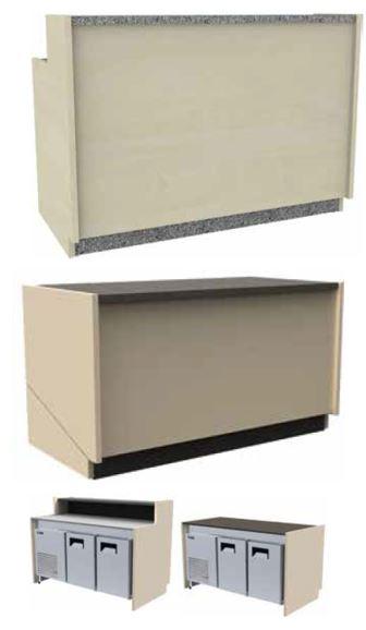 Balcões modulares Altos e Baixos Refrigerados , de 2 a 5 Portas máximas, com grupo frigorífico incorporado, a pedido pode ser com frio á distânçia