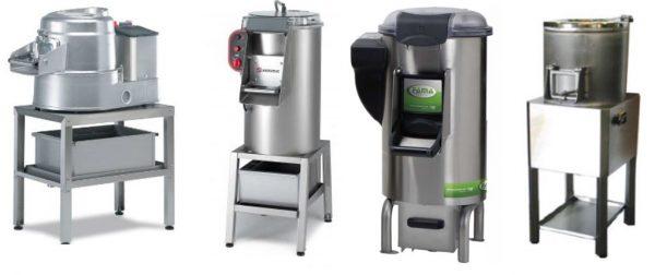 Descascadora ou peladora de Batatas de pousar em bancada ou chão , Todas têm em opcional uma Estrutura de apoio mais filtro de Espuma