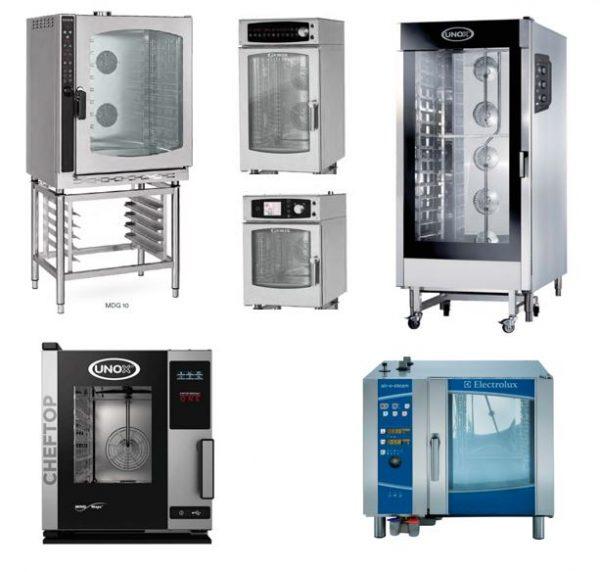 Fornos de Cozinha ou Pastelaria com Vapor directo ou Mistos para tabuleiros gastronorm GN1-1 ou GN2-1 ou 600x400 (Padaria Pastelaria)