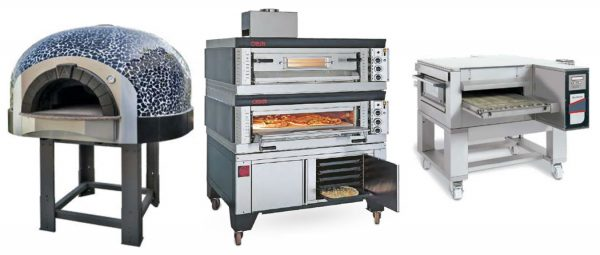 Fornos de Pizza Rusticos, com soleira rotativa ou fixa, com aquecimento a gás ou lenha, forno modular a gás de Pizza, Forno electrico de Pizza de Tapete .
