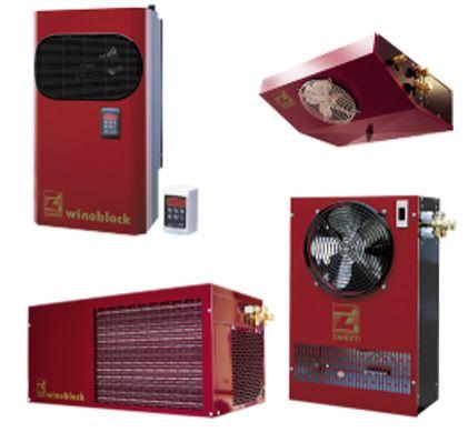Sistemas de refrigeração para Vinhos Tintos Maduros, Sistema Mochila,ou unidades Condensadoras conectas a Splits de Tecto ou Parede