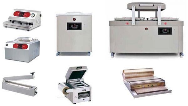 Máquinas de embalar de Vácuo de sem câmara, Máquina com Câmara de bancada ou de Móvel, mais máquinas de embalar por filme com placa de calor