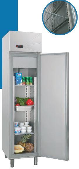 Armário frigorífico de Gastronorm GN 1-1 temperaturas positivas ou temperaturas negativas, opções para divisão de 1 Porta em 2 Meias Portas
