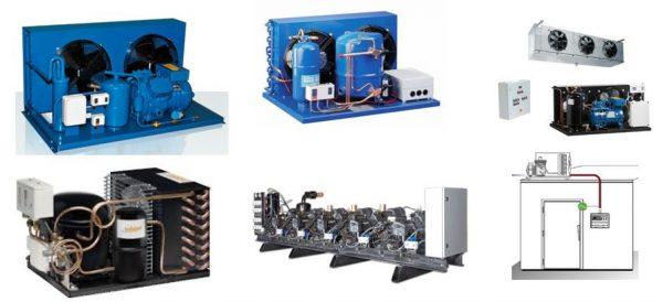 Grupos Compressores Semi-hermétricos, Scroll ou hermétricos , centrais frigoríficas para frios á distânçia para móveis refrigerados .
