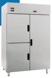 Armário frigorífico de Gastronorm GN 2-1 Duplo Misto,2 ou 3 Zonas independentes . Temperaturas positivas com negativas, etc.