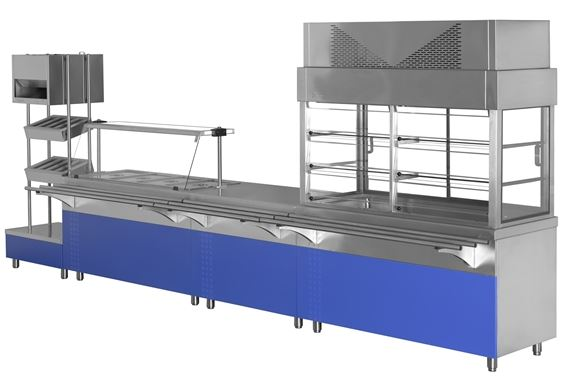 Self Serviçe Simples Industrial - Linha mais apropriada para espaços de cantinas industriais de grande afluênçia, com pés expostos para facilitar limpeza