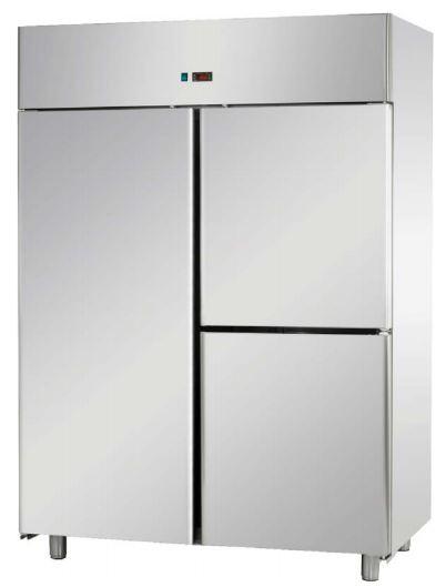 Armário frigorífico de Gastronorm GN 2-1 Duplo temperaturas positivas ou temperaturas negativas, opções para misturas de Porta com meias Portas
