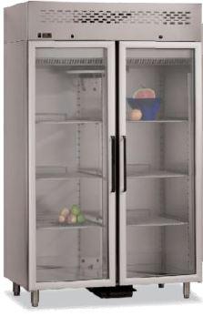 Armário frigorífico de Gastronorm GN 2-1, temperaturas positivas ou temperaturas negativas, Portas Normais ou meias portas em Vidro