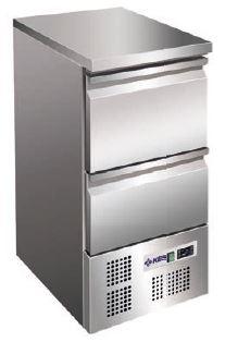 Bancada refrigerada ,tampo Inox inferior de 2 gavetas gastronorm GN 1-1, Existe Modelos de 2,4 e 6 Gavetas