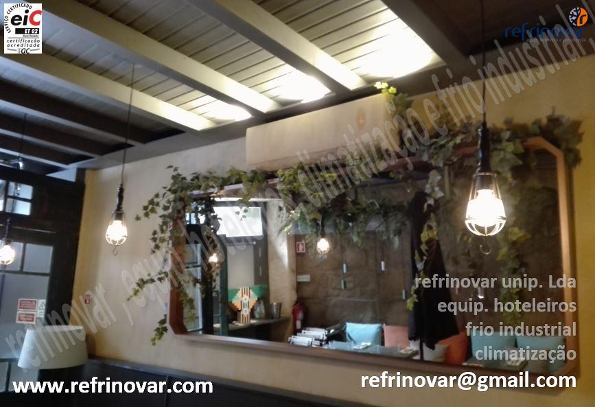 Exemplo de implantação de um Ar Condicionado Mural Split enquadrado na decoração